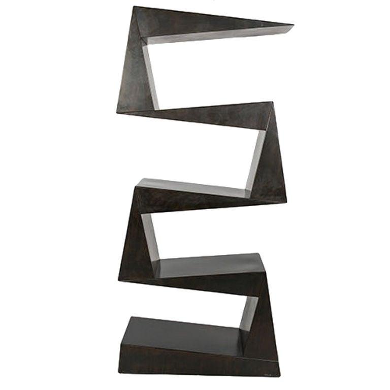 """""""Biblio John"""" Steel Bookcase by Stephane Ducatteau For Sale"""