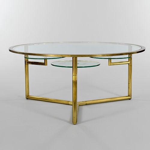 Https Www 1stdibs Com Furniture Tables Coffee Tables Cocktail Tables Brass Glass Coffee Table Rotating Cup Holders Id F 549266