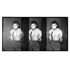 """""""Ali Triptych 1964"""" Diamond Dust Screen Print by Russell Young"""