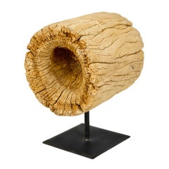 Molave Wood Sculpture of Mortar by Alex Cayet, France
