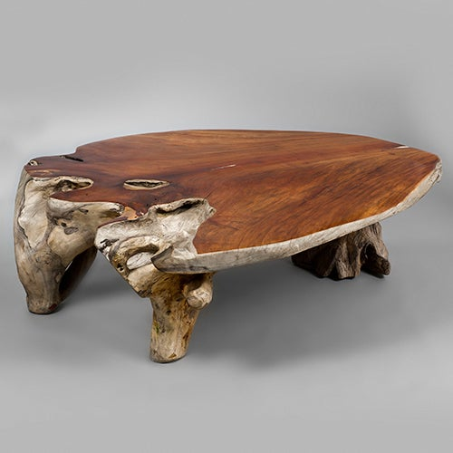 Narra Wood Low Centre Table By Alex Cayet, France At 1stdibs