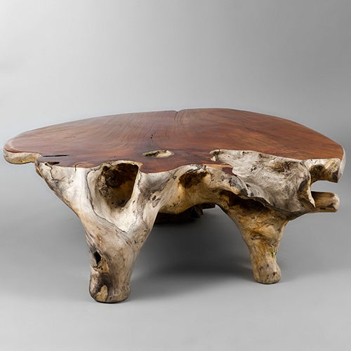 Carved Tables Philippines: Narra Wood Low Centre Table By Alex Cayet, France At 1stdibs