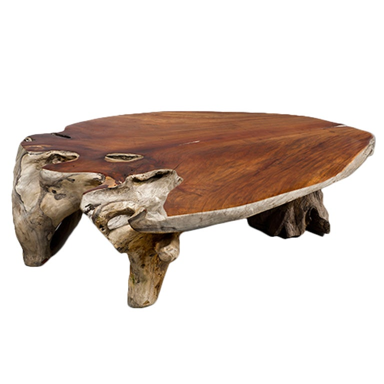 Narra Wood Low Centre Table By Alex Cayet France At 1stdibs
