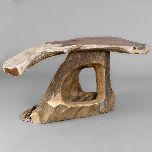 Narra Wood Desk Or Dining Table By Alex Cayet France At 1stdibs
