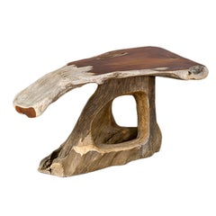 Narra Wood Desk or Dining Table by Alex Cayet, France