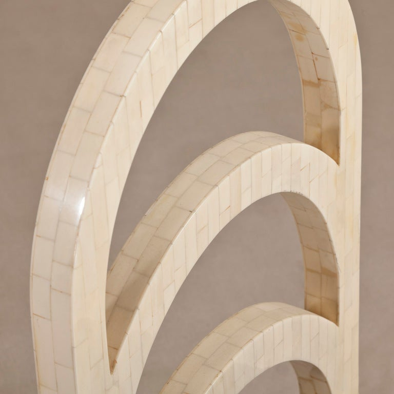 A Tessellated Bone Veneered Three Drawer Desk/Vanity Table 5