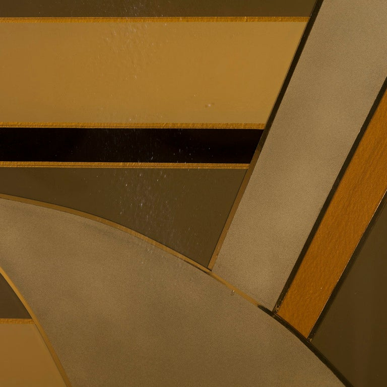 An Art Deco Inspired Five Part Lacquered Screen 1986 4