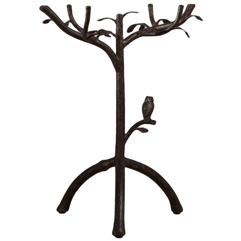 Giacometti Inspired Simulated Tree Side Table, 1980s