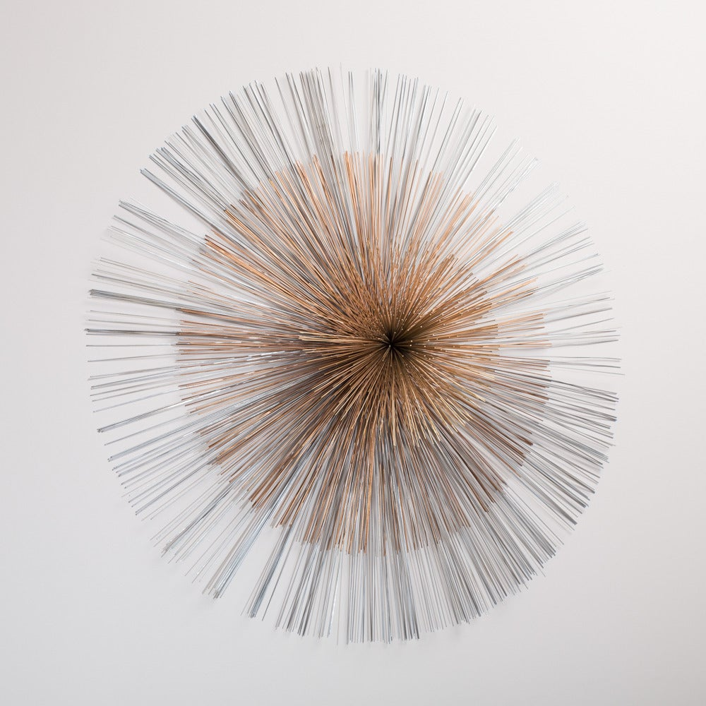 Large Starburst Metal Wall Sculpture By Curtis Jere 1986