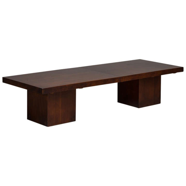 John Keal Walnut Extendable Coffee Table, USA, 1960s