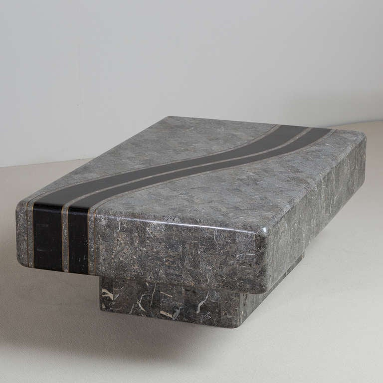 Tessellated Stone Coffee Table By Maitland Smith 1980s For Sale At 1stdibs