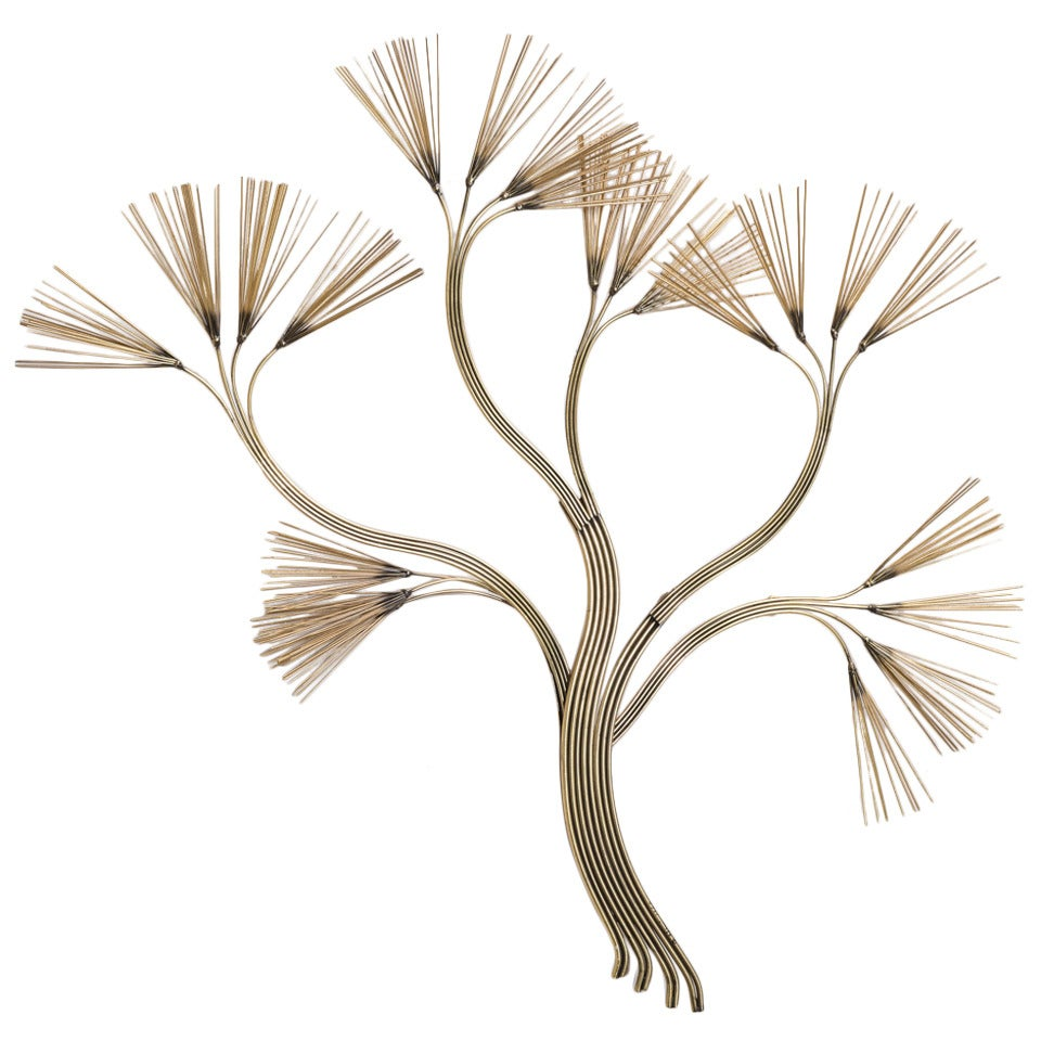 Metal Wall Sculpture tree branch metal wall sculpturecurtis jere, 1988 for sale at