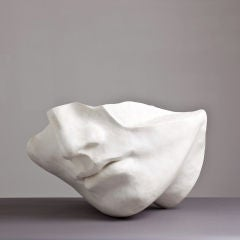 A 1980s Overlife sized Plaster Sculpture of a Face thumbnail 3