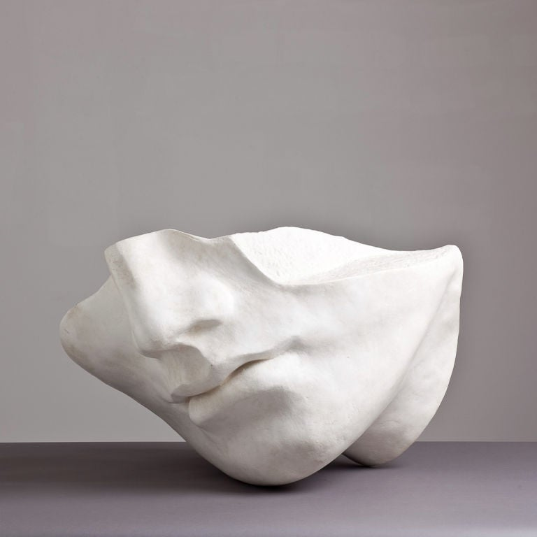 A 1980s Overlife sized Plaster Sculpture of a Face image 3