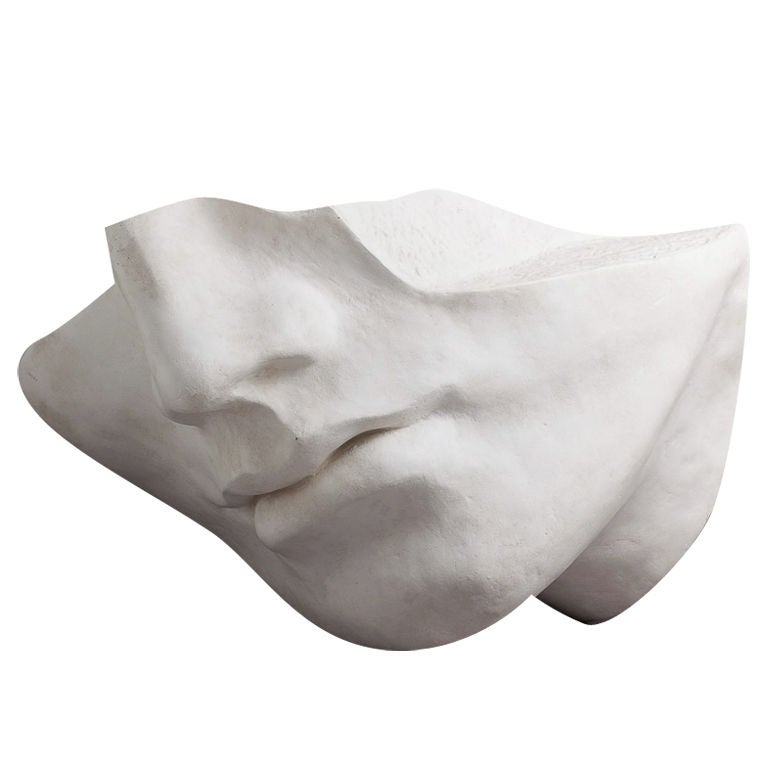 A 1980s Overlife sized Plaster Sculpture of a Face