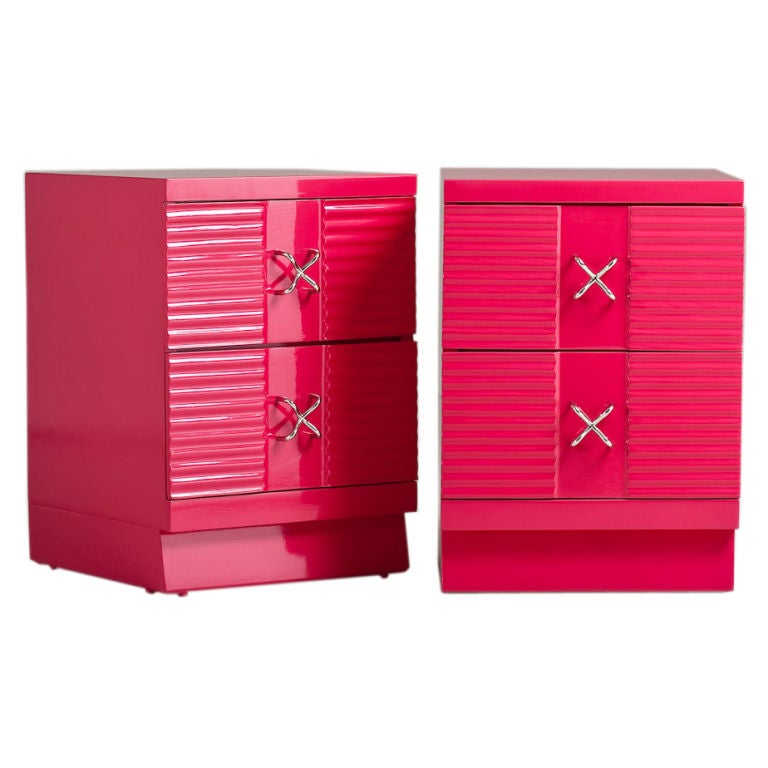 A Pair of 1950s George Nelson Designed End Cabinets