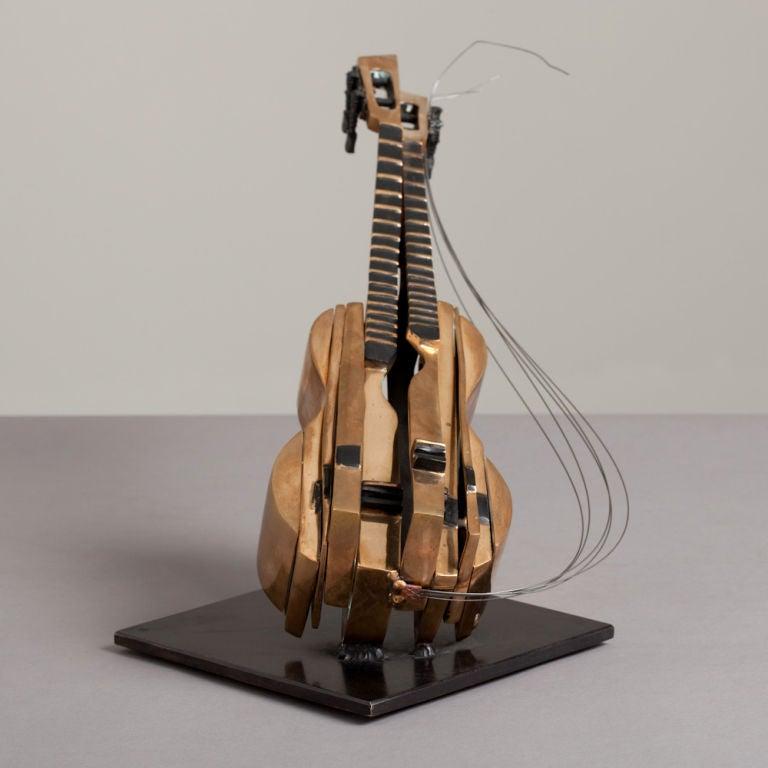 A Bronze Mandolin Table Sculpture by Arman 3