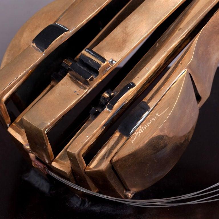 A Bronze Mandolin Table Sculpture by Arman 4