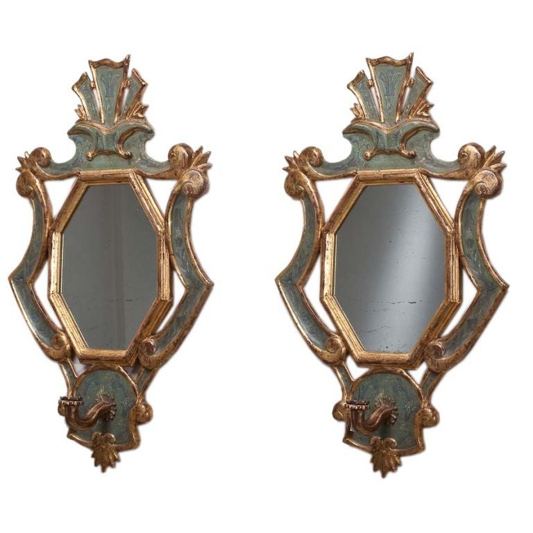 Wall Sconces Italian : A Pair of 19th Century Italian Wall Sconces at 1stdibs