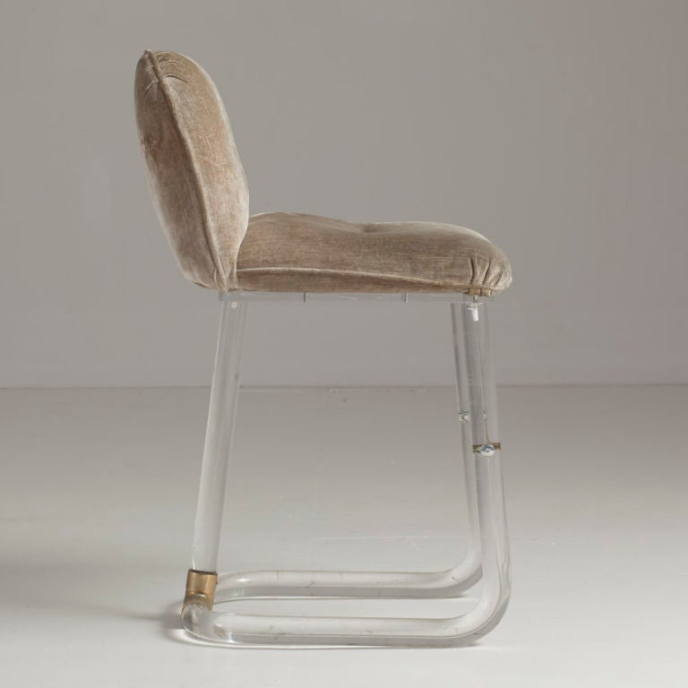 Pair of Lucite Counter Stools by Lion in Frost at 1stdibs