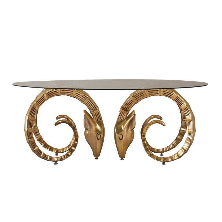 A Pair Rams Head Coffee Table Bases At 1stdibs