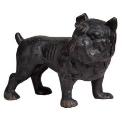 A Cast Iron Bulldog Door Stop