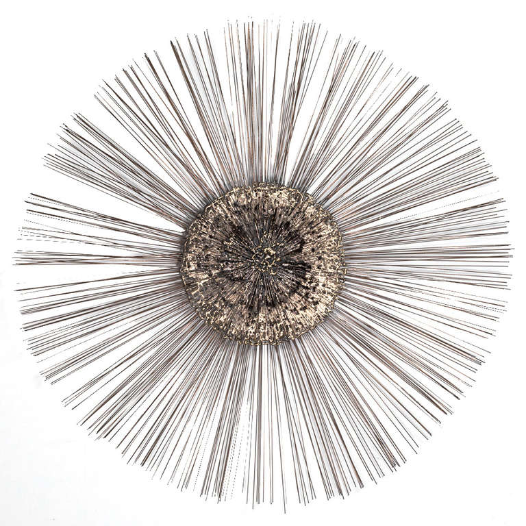 A Metal Starburst Wall Sculpture By Friedle Usa 1970s At