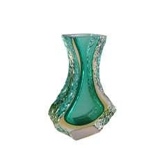 Teardrop Mandruzzato Designed Murano Sommerso Glass Vase