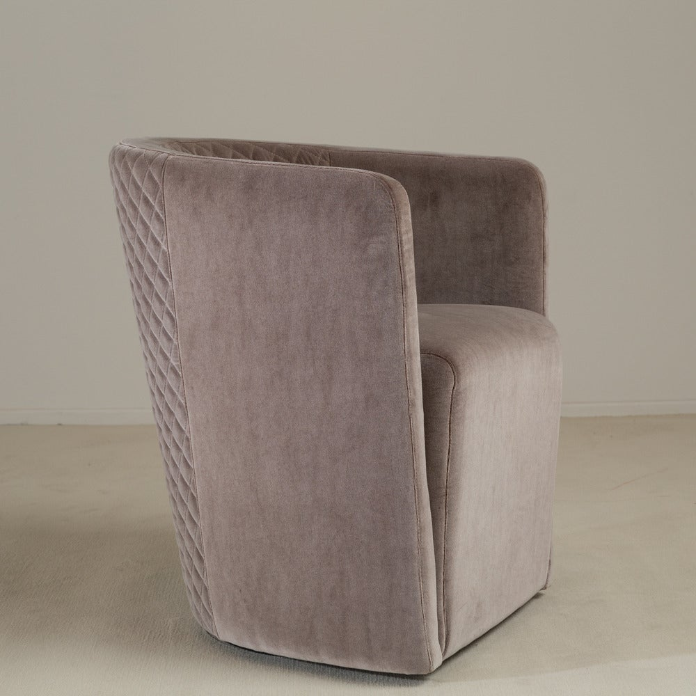 Set Of Six Contemporary Italian, Quilted Swivel Tub Chairs 3