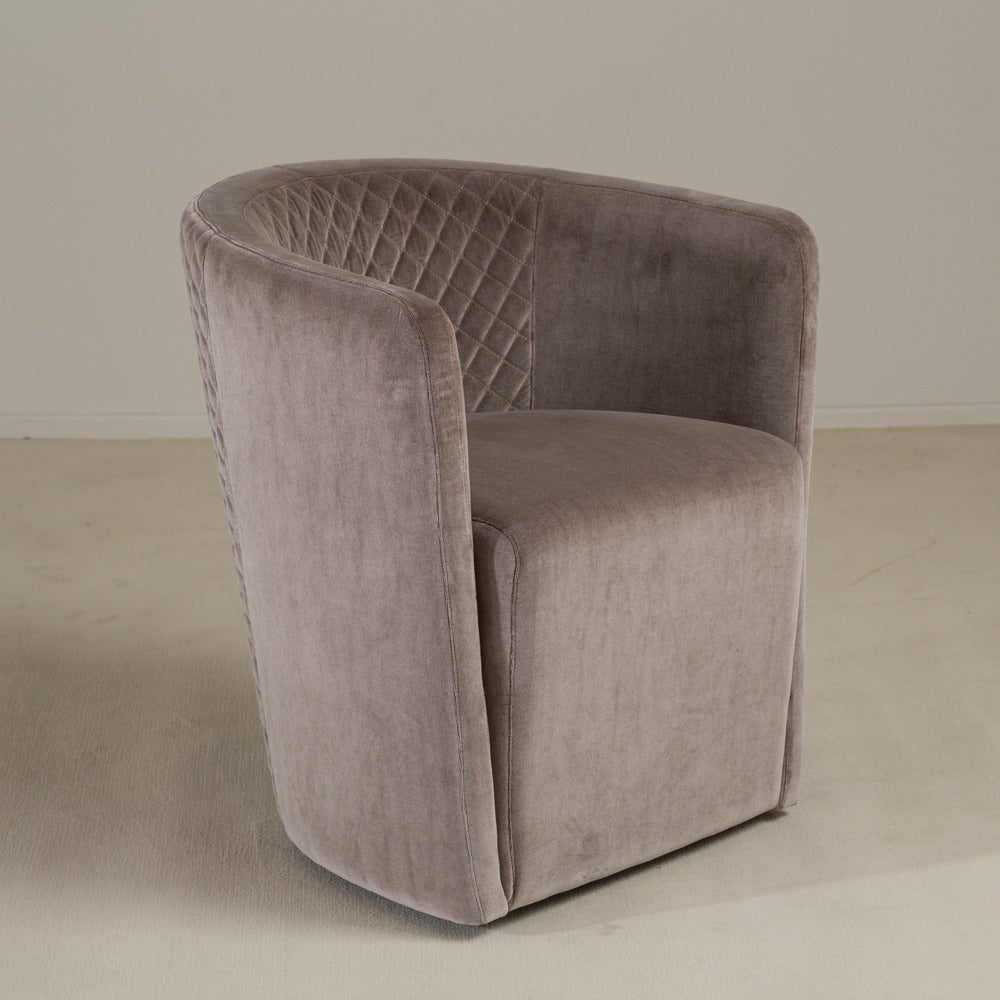 Set of Six Contemporary Italian, Quilted Swivel Tub Chairs For ...