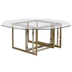 A Karl Springer Designed Goatskin Wrapped Dining Table For Sale At 1stdibs