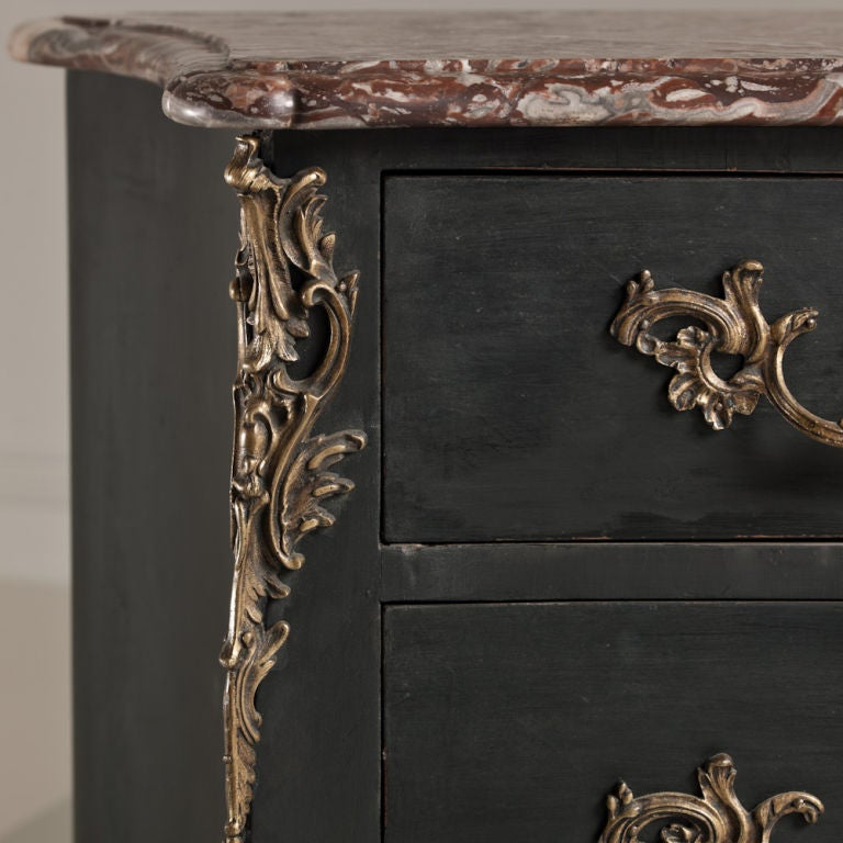 Marble French Provincial Oak Commode, circa 1760 For Sale
