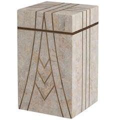 A Maitland Smith designed Tessellated Stone Box 1980s