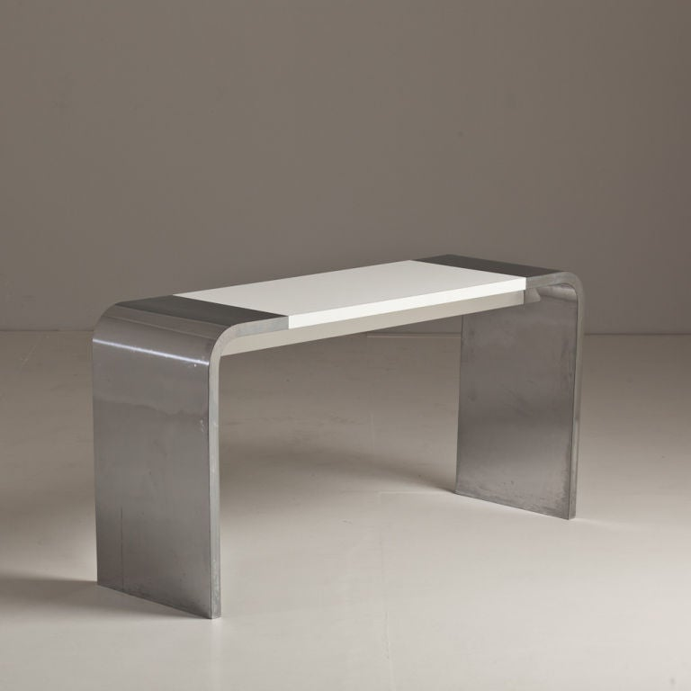A Mica Waterfall Console Table By Milo Baughman Circa