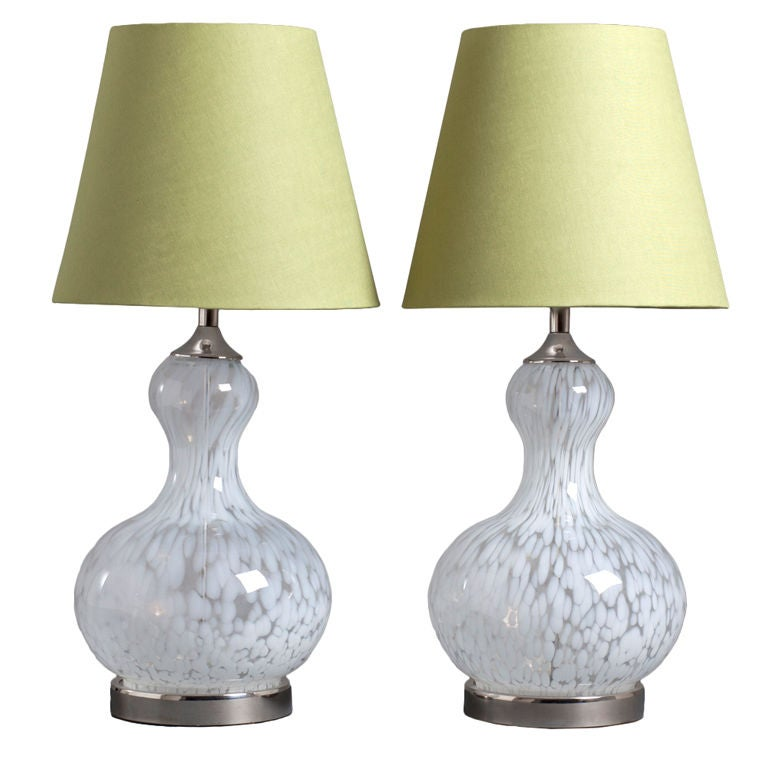 pair of 1960s murano blown glass table lamps at 1stdibs. Black Bedroom Furniture Sets. Home Design Ideas