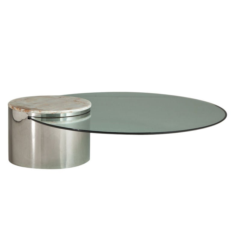 A Rare Breuton Designed Cantilevered Coffee Table At 1stdibs