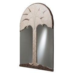 Matched Pair of Maitland-Smith Stone Veneered Mirrors, 1980s