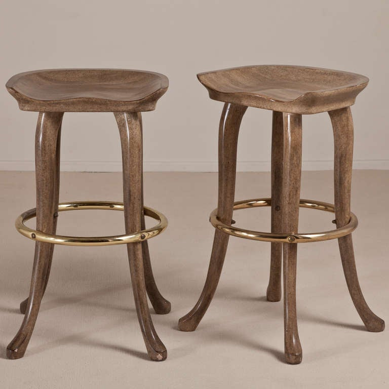 An Elephant Bar And Pair Of Stools By Marge Carson At 1stdibs
