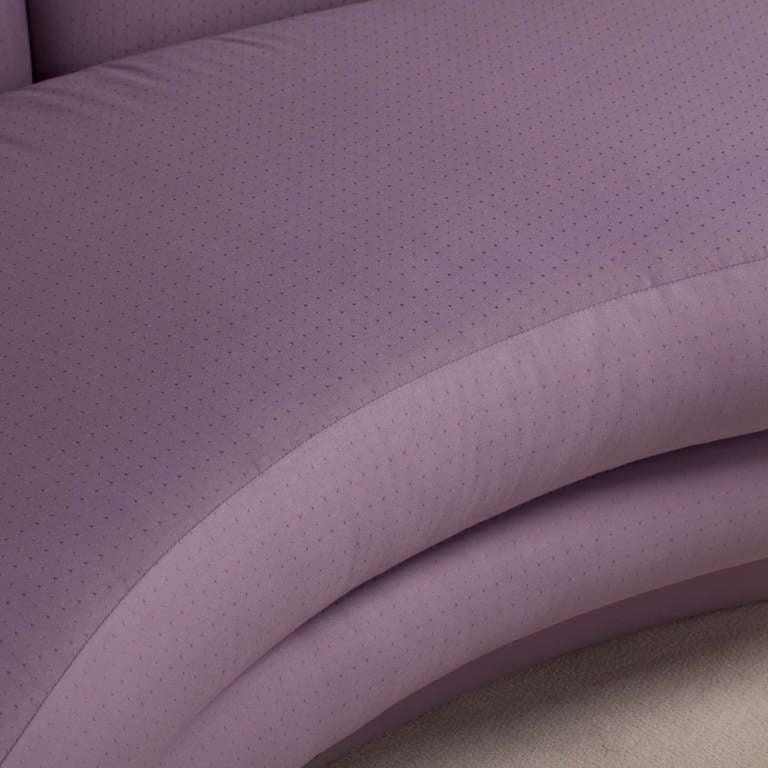 A Curved Vladimir Kagan Style Sofa 1980s 9