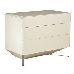Three-Drawer Commode Designed by Rougier, Late 1970s