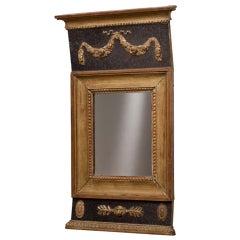 Swedish Empire Gilt Mirror with Original Mirror Plate