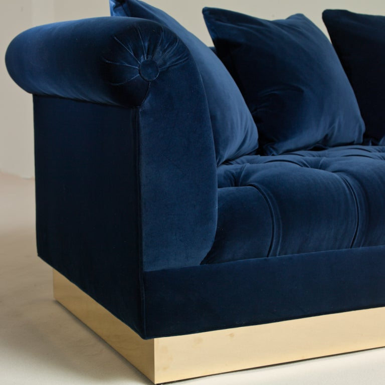 Large deep buttoned sofa by talisman bespoke for sale at for Deep sofas for sale