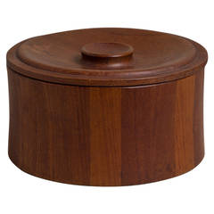 Danish Teak Ice Bucket Designed by Dansk, 1960s, Stamped