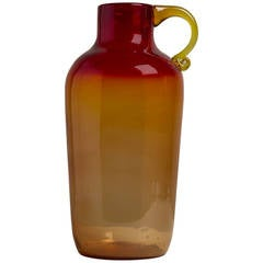 Large Amberina Blown Glass Jug in the Manner of Blenko, 1960s