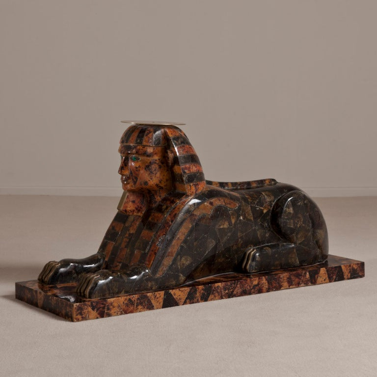 An Anthony Redmile Exotic Sphinx Occasional Table 1970s At