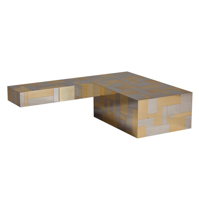A Large 'L' Shaped Cityscape Coffee Table by Paul ... - A Large 'L' Shaped Cityscape Coffee Table By Paul Evans At 1stdibs