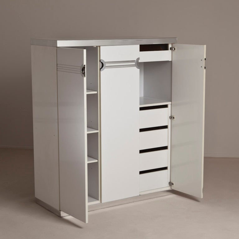 a tall pierre cardin white three door cabinet 1980s at 1stdibs
