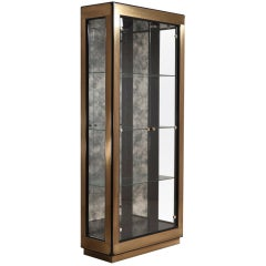 Single Mastercraft Designed Glazed Cabinet, USA, 1980s