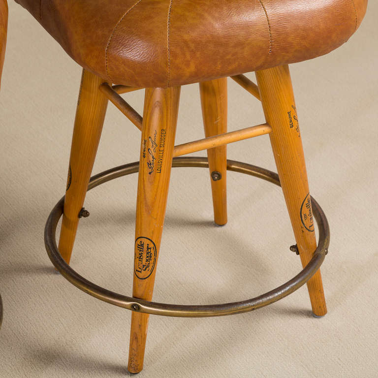 Outstanding Baseball Glove Bar Stools Bralicious Painted Fabric Chair Ideas Braliciousco