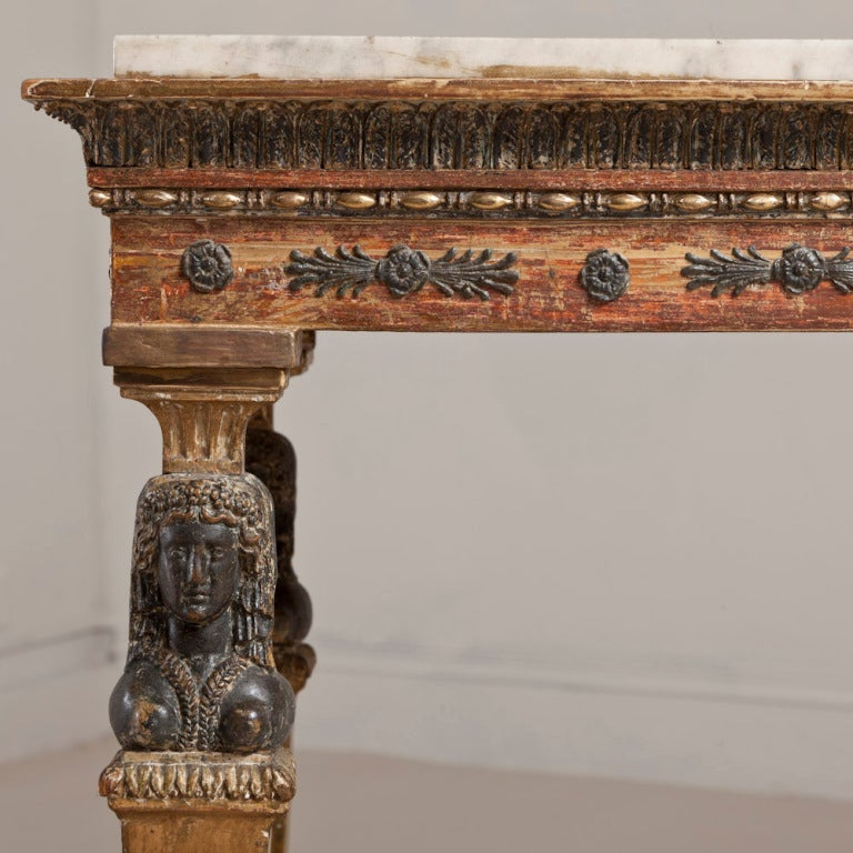 An Exceptional Swedish Empire Console Table Circa 1810 For Sale 1